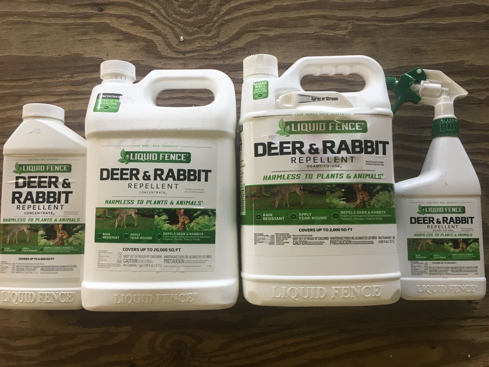 Liquid Fence Deer and Rabbit repellent RTU or Concentrate