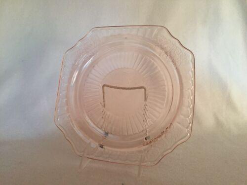 "Pink Mayfair Open Rose Hocking Depression Glass 9 1/2"" Dinner Plate"