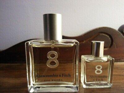 NWOB Abercrombie 8 Perfume - 1.0 Fl.Oz. - Original Etched Bottle + Travel Size