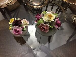 """Moving sale"" china hand painted floral arrangement"