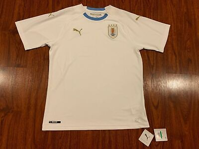 2018-19 Puma Men's Uruguay National Team Away White Soccer Jersey Large L image