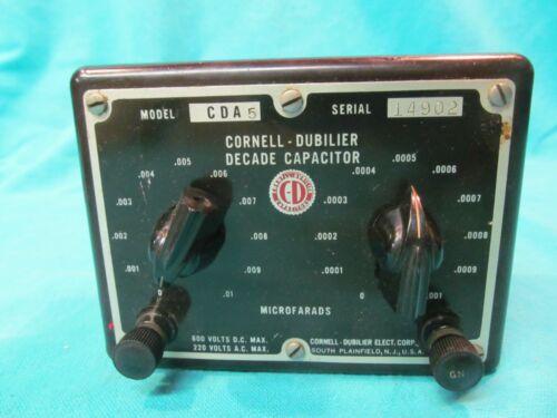 CORNELL DUBILIER CDA-5 DECADE CAPACITOR BOX