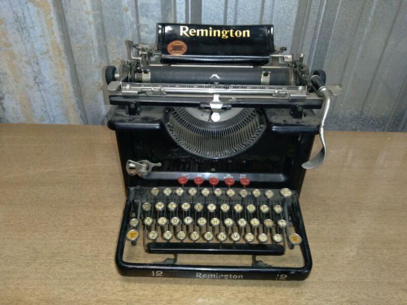antique remington standard 12 typewriter 1922 LA20512 special easy restoration