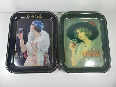 Lot of 2 Vintage Coca-cola Tray