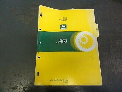 John Deere 950 Tractor Parts Catalog Manual  Pc-1640