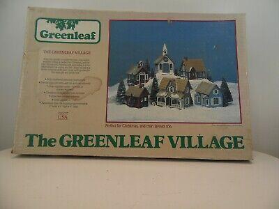 Greenleaf village Christmas vintage (inv372) train layout, never assembled. 1983