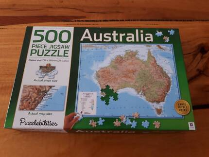 3d world map globe jigsaw puzzle other books music games map of australia 500 piece jigsaw puzzle gumiabroncs Images