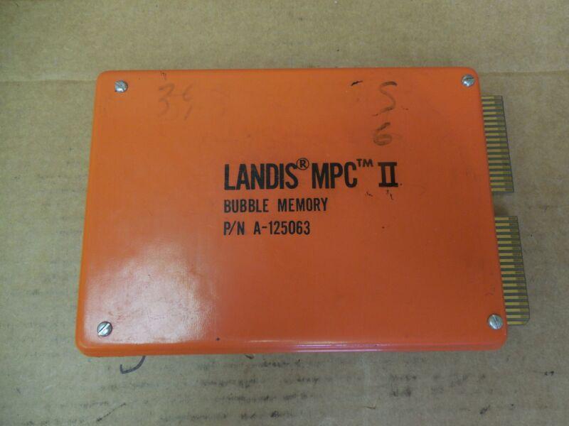 Landis MPC II Bubble Memory A-125063 A125063 Used
