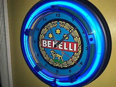 Benelli Firearms Shotgun Rifle Hunting Advertising Man Cave Neon Clock Sign