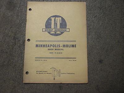 Minneapolis Moline Gb Ub Zb Tractor It Service Repair Manual