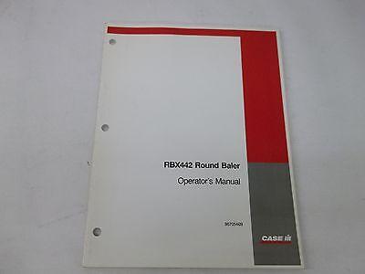 Case Ih Rbx442 Round Baler Operators Manual