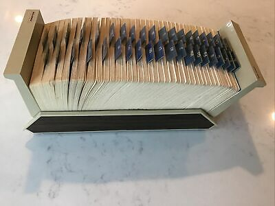 Rolodex 13 X 5 Open Tray Card File A-z Index Vip-135 Vintage