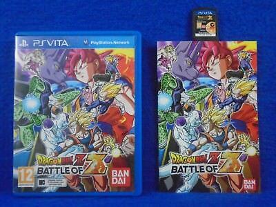PS VITA DRAGONBALL Z Battle Of Z Dragon Ball Z Game Playstation PAL UK