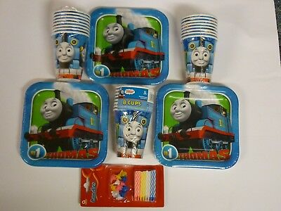 Thomas the Tank Engine Party Pack - 24 Plates & 24 Cups - New 0.79p a Child (Thomas The Tank Engine Party)