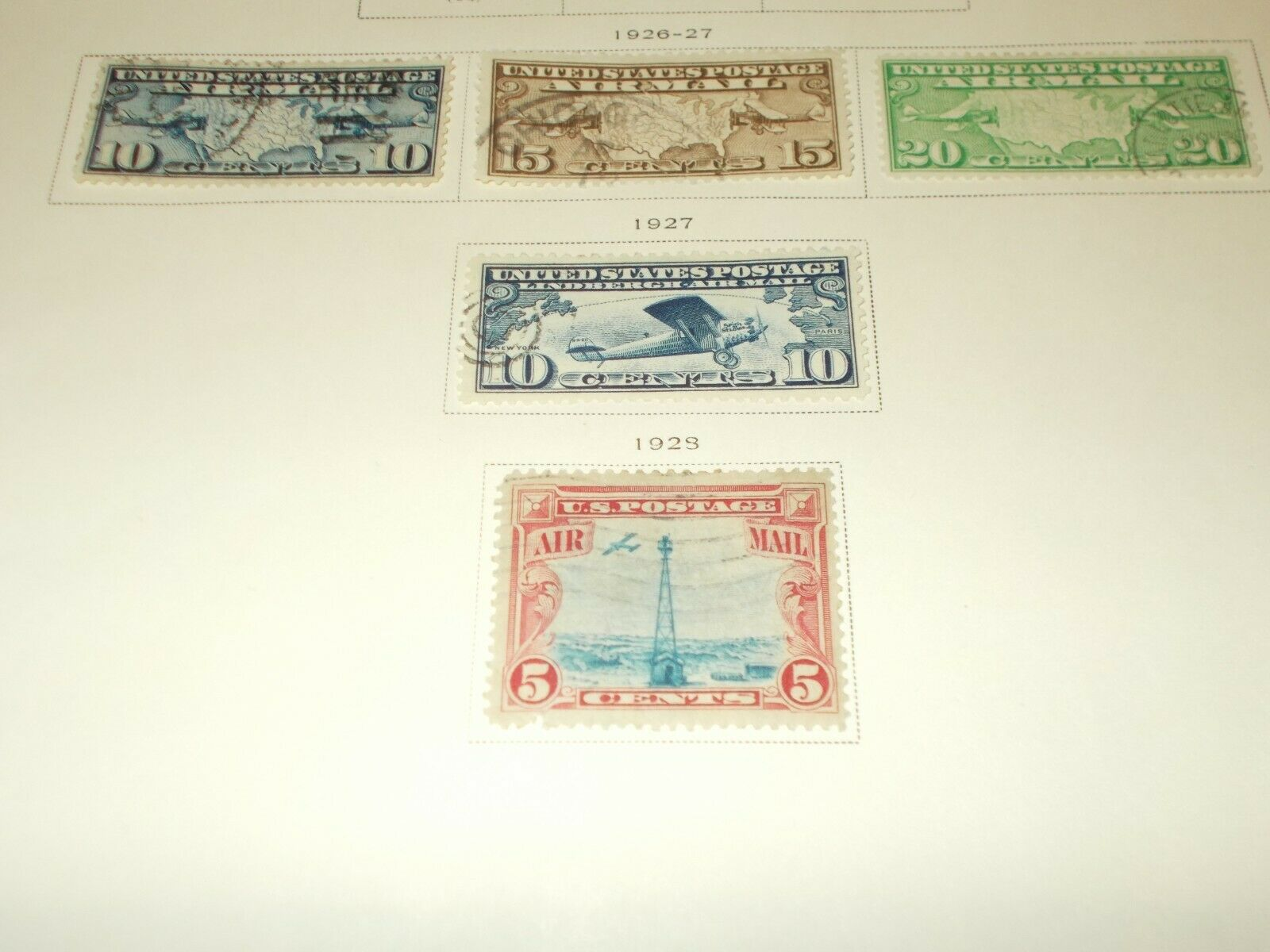 Set Of 1926 To 1957 Dated New Used Cond. United States Air Post Stamp s - $39.99