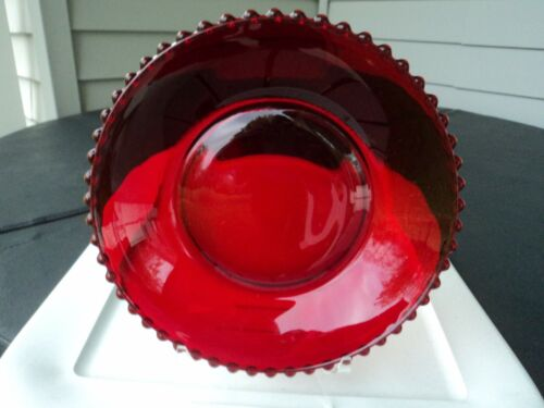 IMPERIAL RED CANDLEWICK CENTRE BOWL
