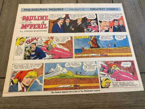 #01  PAULINE MCPERIL by Jack Rickard Lot of 6 Sunday Comic Strips  1966