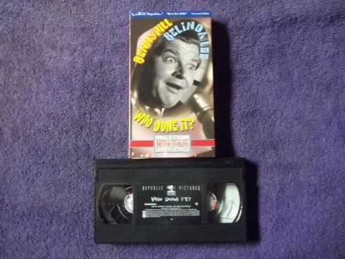 BENNY HILL- WHO DONE IT ? -VHS  - BELINDA LEE