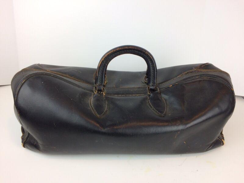 Vintage Schell 512-1 Leather Doctor's Hand Bag W/Zipper Antique Satchel W/Name
