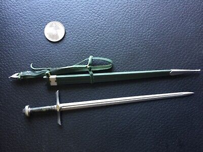 MINIATURE 1/6 SCALE KNIGHT SWORD BELT & SHEATH CUSTOM COO MODELS IGNITE LOTR