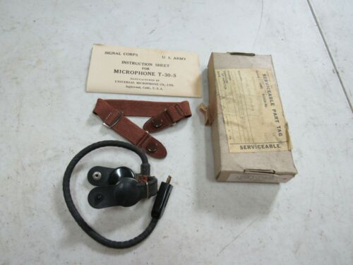 Throat Microphone T-30-S NOS WWII Military Army Air Corps Original (ST1)