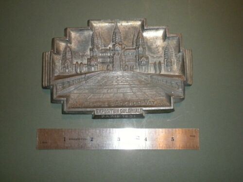 "Angkor Wat Dish, Metal, Exposition Coloniale Paris 1931 ""Temple D"