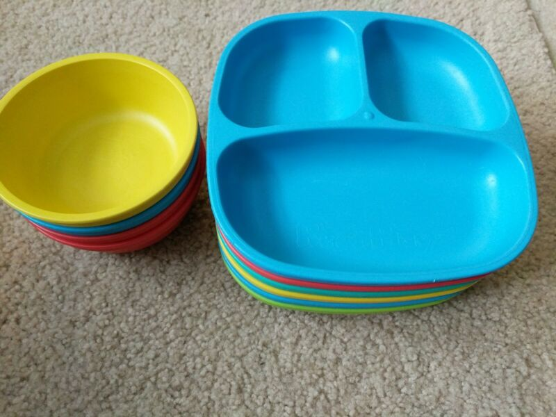 6 RePlay Toddler Plates & 4 Bowls in Great Used Condition