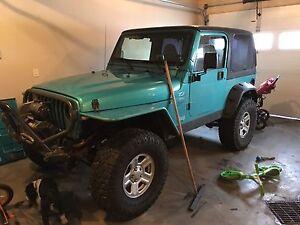 Built jeep Tj for trade on unlimited jk