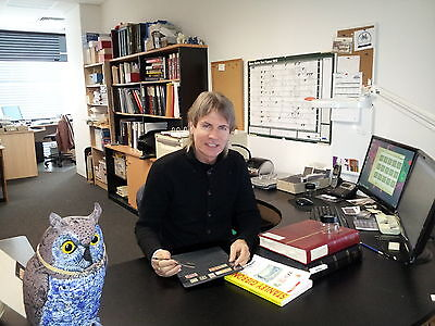 Jude at work at our South Yarra, Vic. Australian office.