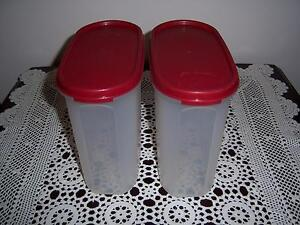 Retro Vintage Tupperware Modular Mates Container Oval #3 Red 1.7 Cannington Canning Area Preview