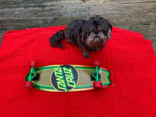 Santa Cruz Rasta Dot Shark Cruiser Skateboard 8.8in x 27.7in Hard To Find