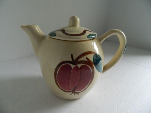 Vintage Purinton Pottery Individual Teapot Apple & Pear Design