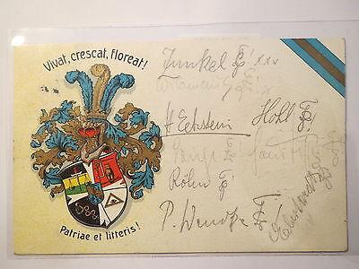 Weimar - Wappen - Patriae et litteris ? - 1910 / Studentika