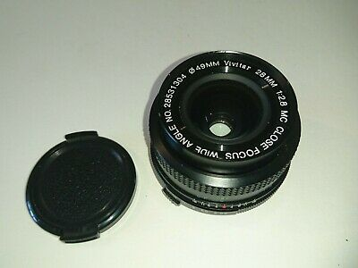 Vivitar 28mm 1:2.8 MC Close Focus Wide Angle Lens Olympus Mount, Fungus segunda mano  Embacar hacia Spain