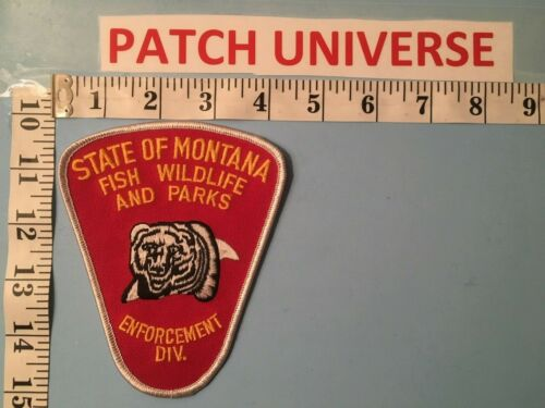 STATE OF MONTANA FISH WILDLIFE AND PARKS ENFORCEMENT  SHOULDER PATCH  J007