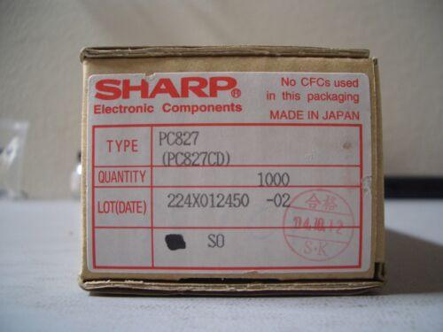 (50 piece lot) PC827CD, SHARP, OPTOISOLATOR 5KV 2CH TRANS 8DIP