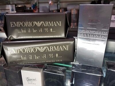EMPORIO ARMANI LUI or DIAMONDS by Giorgio Armani 1.7 2.5 3.4 oz for Men * SEALED
