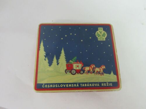 VINTAGE ADVERTISING XMAS CHRISTMAS FLAT POCKET  TIN 791-H