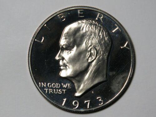 1973-S Eisenhower Dollar - Clad Proof Ike - Impaired