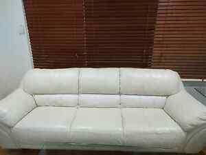 Five sitter white lether sofa , could be sale separately. Valley View Salisbury Area Preview