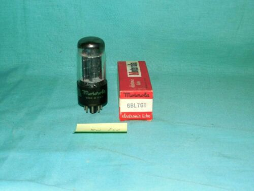 Motorola 6BL7GT Dual Triode Low-mu Amplifier Vac Tube Blk Plate Rectangle Getter