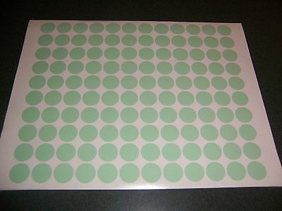 432 Green Pastel Blank Rummage Garage Yard Sale Stickers Labels Price Tags