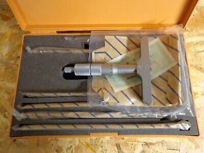 0-150mm Mitutoyo 129-116 Interchangeable Rod Depth Micrometer Gauge
