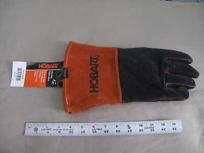 1 New Hobart Form Fitted Welders Gloves 770439 Size Xl Cowhide 16-12l