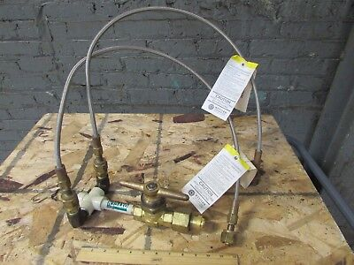 Sherwood 430 C Valve 2 Western Enterprises Teflon Hose Pigtails Oxygen Assembly