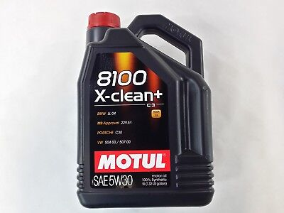 106377 Motul 8100 X-CLEAN + 5W30 100% Synthetic Performance Engine Oil (5 Liter) comprar usado  Enviando para Brazil