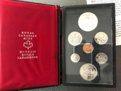 1974 Canada double dollar 7 coin Proof Mint Set Winnipeg