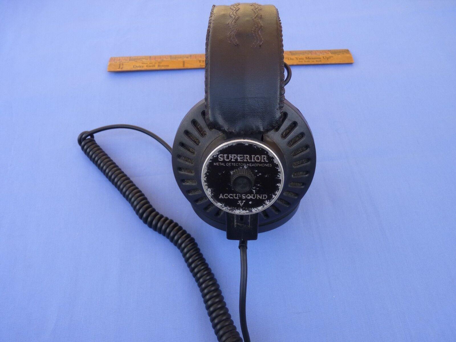 Superior Accu-Sound Metal Detector Headphones Used