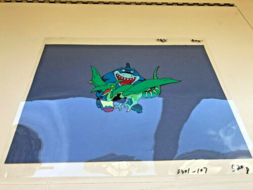 Street Sharks Original Production Animation Cel STREEX VS. PTERODACTYL!!!