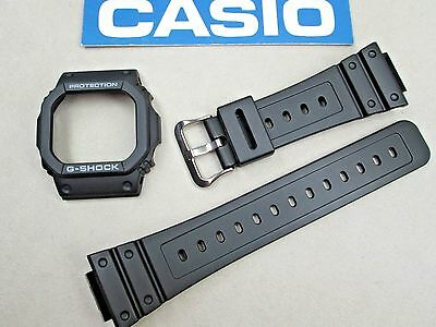 Genuine Casio G-Shock G-5600E GWM-5600 GWM-5610 watch band & bezel set black for sale  Pasadena